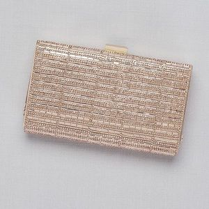 rose gold blush crystal clutch